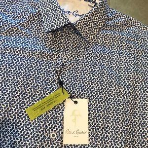 New Men's Robert Graham LAMPHERE shirt Sz S Blue